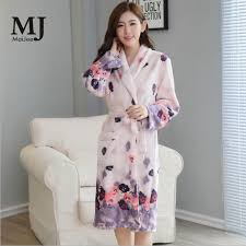 robe de chambre pour femme épaississement flanelle hiver robe robes pour femmes peignoir