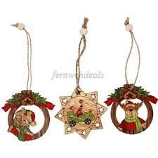 wooden snowman unbranded wooden snowman christmas ornaments ebay