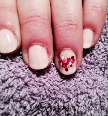 heart nail art pinned by sophia