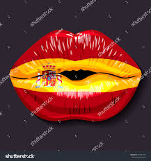 foreign language concept lips open stock vector 372042157