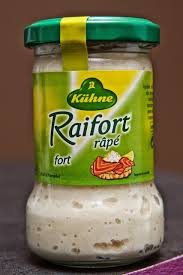 qu est ce que le raifort cuisine raifort râpé 140g par kühne