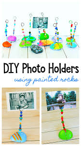 painted rock photo holder craft for kids buggy and buddy