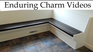 how to build custom kitchen bench seating youtube