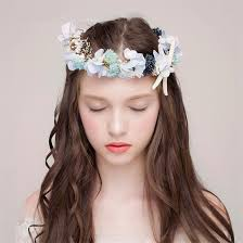 prom hair accessories wedding bridal flower starfish headpiece boho style floral flower