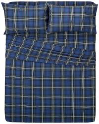 amazon com pinzon plaid flannel sheet set queen blackwatch