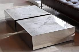 margaret modern marble top coffee table white tables thippo