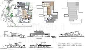 alvar aalto floor plans maison louis carré by alvar aalto floor plans and elevations