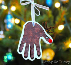 christmas ornament crafts handprint cheminee website