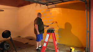 painting garage gym wall in under 100 seconds youtube