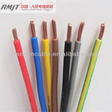 1 5mm 2 5mm 4mm 6mm electric copper conductor pvc coated wire for