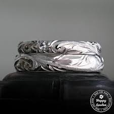 jewelry platinum rings images Hawaiian hand engraved platinum ring hawaiian rings jpg