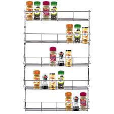 Spice Rack Holder Spice Sauce Rack Jar Bottle Storage Shelf For Kitchen Cupboard