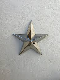 star five point star mirror polished stainless steel star