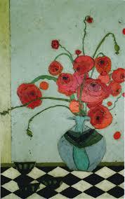 Vase With Red Poppies Karen Tusinski Jules Place