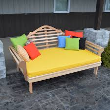 Wooden Outdoor Daybed Furniture by Belham Living Brighton Outdoor Daybed And Ottoman Natural