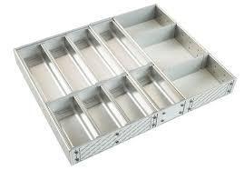 Kitchen Drawer Inserts Cooke U0026 Lewis Stainless Steel Effect Kitchen Utensil Tray