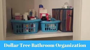 dollar tree bathroom organization collab youtube
