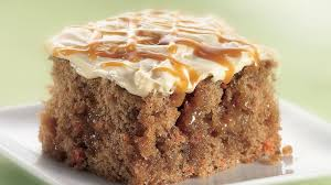 caramel carrot cake recipe bettycrocker com