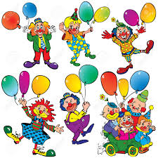 clowns balloons clowns with balloons royalty free cliparts vectors and stock