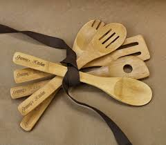 cooking gifts for mom wooden salad spoons set of 5 personalized wooden spoons bamboo