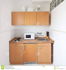 simple kitchen with furniture set royalty free stock images