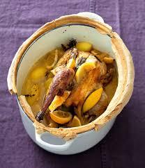 cuisiner une pintade cocotte lutée de pintade aux citrons confits citrons confits le