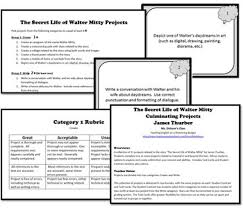 secret of walter mitty projects task cards thurber
