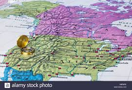 Usa Map With Compass by Usa Map And Compass Stock Photo Royalty Free Image 127746374 Alamy
