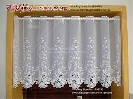 European Lace Curtains Embroidered European White Lace Curtains Curtain