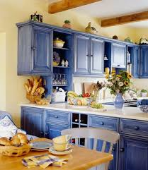 white kitchen cabinets yellow walls 25 catchy and bold blue and yellow kitchens digsdigs