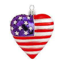 shaped american flag glass ornament usa theme