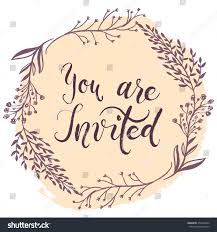Party Invitation Card You Invited Party Invitation Card Vector Stock Vector 452246932