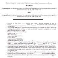 personal loan contract or agreement form sample vatansun