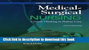 Surgical Nurse Job Description Pdf Medical Surgical Nursing Critical Thinking In Patient Care