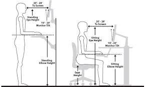 Computer Desk Posture Brilliant Standing Desk Ergonomics Nice Ergonomic Computer Desk