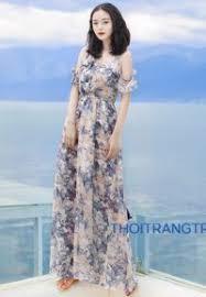 dam maxi 10 mẫu váy voan maxi đẹp nhất cho hè 2017
