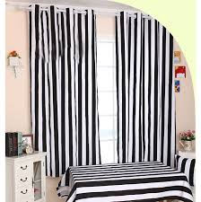 Black And White Stripe Curtains Funky Black And White Striped Curtains Of Cotton Fabric