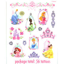 princess temporary tattoos sheets