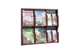 decoration newspaper stand clear plastic literature display
