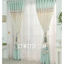 Aqua And Grey Curtains Beautiful Beige And Aqua Country Floral Print Curtains