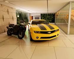 awesome garage interior design ideas luxury car sport bike with garage interior design ideas photo