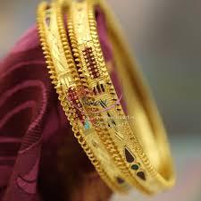 bangle bracelet color gold plated images B1203 2 8 size gold plated meena color delicate bangles gold jpg