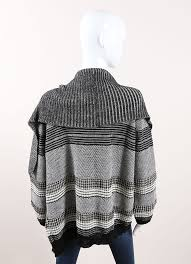 Drape Cardigan Pattern Yigal Azrouel Graphic Jacquard Knit Drape Cardigan U2013 Luxury Garage