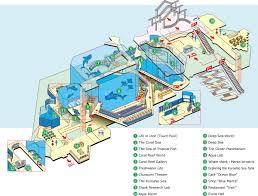 Coral Reefs Of The World Map by Aquarium Map Okinawa Churaumi Aquarium For The Next Generation