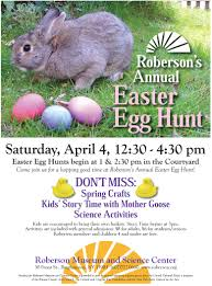 roberson museum and science center easter egg hunt
