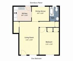 apartment square footage stunning 1 bedroom apartment square footage layout home decor