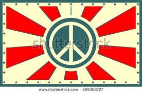 sun burst peace sign stock vector 269308727