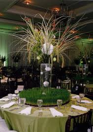 theme centerpiece field of table centerpiece instead of baseball which is