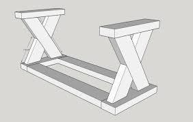 diy x bench using 2x4s buildsomething com