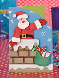 Paper Craft Christmas Cards - 157 best christmas santa images on pinterest christmas ideas